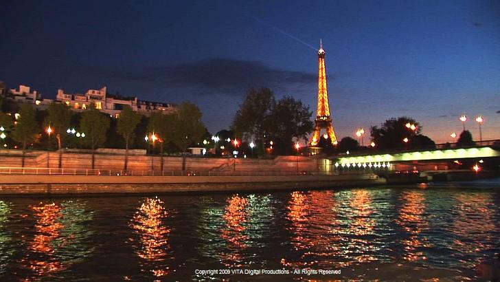 PARIS FRANCE RIVER SEINE CRUISE DVD VIRTUAL EXPERIENCE RIVER CRUISE - France river cruise
